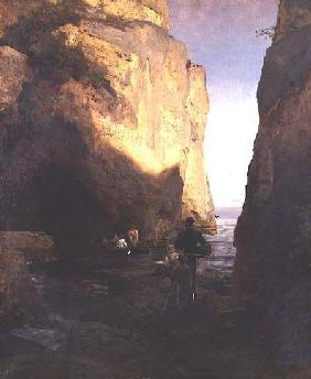 Entering the Grotto 1881