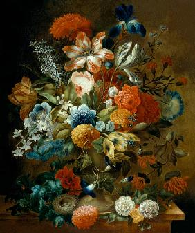 Flower Still Life with Bird Nest 17. Jh