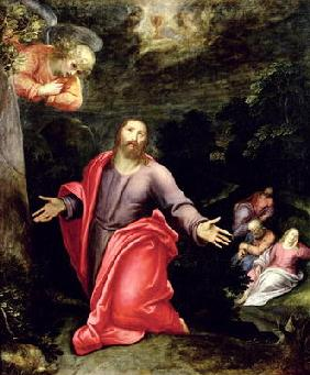 Jesus in the Garden of Olives, c.1590-95 (oil on canvas) 1889