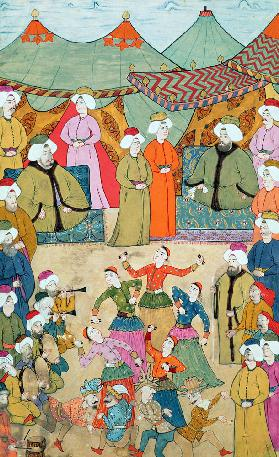 A Dance for the Pleasure of Sultan Ahmet III from the ''Surnama''
