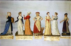 Dresses and costumes in vogue during the French Revolution