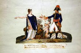 ''France entrusts her forces to Prudence and to the courage of Bonaparte. c.1800