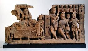 Relief panel depicting the Dream of Queen Maya, Gandhara Region
