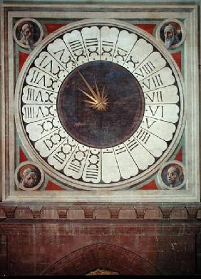 Canonical clock with the heads of four prophets completed