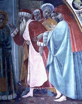 The Dispute of St. Stephen, detail of The Saint Preaching, from the Cappella dell'Assunta (Chapel of 1433-34