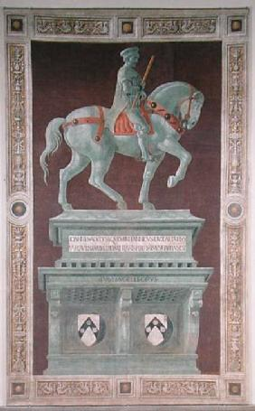 Equestrian Monument to Sir John Hawkwood (1320-94) 1436  (post restoration)