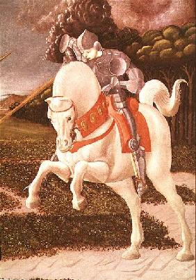 St. George and the Dragon, detail of St. George c.1460