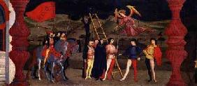 Predella of the Profanation of the Host: The Repentant Christian Woman is Hanged for Pawning the Con c.1468