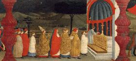 Predella of the Profanation of the Host: The Pope Returning the Consecrated Host to the Altar c.1468