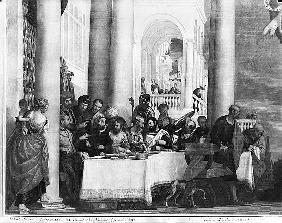 The Meal at the House of Simon the Pharisee, detail of the left hand side