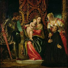 Virgin and Child between St. Justine and St. George, with a Benedictine monk