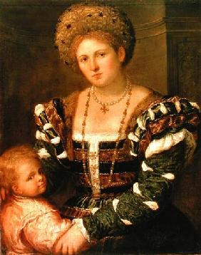 Portrait of a Lady with a Boy 1540s