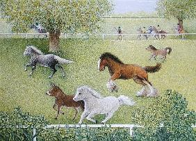 On the Gallop (oil on canvas)