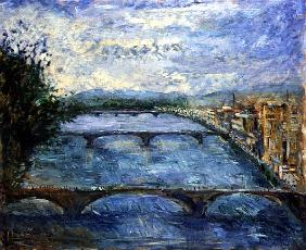 Bridges Over the Arno, 1995 (oil on canvas)