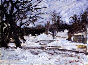February Snow, 1994 (oil on canvas)