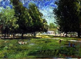 July in Kensington Gardens, 1998 (oil on canvas)