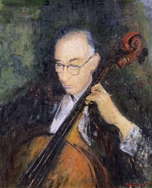 My Cellist, 1996 (oil on canvas)