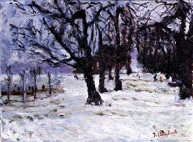 Playground Under Snow, 1994 (oil on canvas)