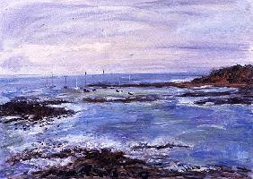 Sailing off the Scilly Isles, 1997 (oil on paper)