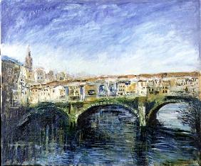 The Ponte Vecchio, Florence, 1995 (oil on canvas)