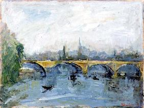 The Serpentine Bridge, London, 1996 (oil on canvas)