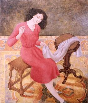 Girl Sewing, 1991
