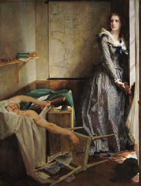 Die Ermordung Marats durch Charlotte Corday 1858