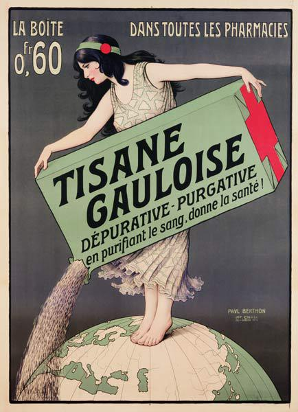 Poster advertising Tisane Gauloise, printed by Chaix, Paris c.1900