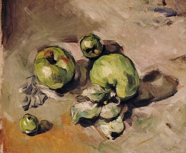 P cezanne gruene aepfel paul c zanne als kunstdruck for Glasbilder modern art