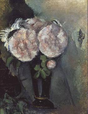 Flowers in a Blue Vase c.1886