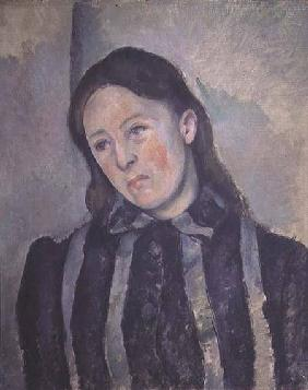 Portrait of Madame Cezanne with Loosened Hair 1890-92