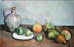 Still Life with Pitcher and Fruit 1885-87