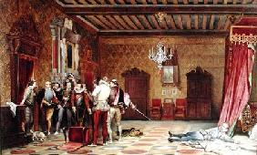 The Assassination of Henri de Lorraine (1549-88) duc de Guise 1834