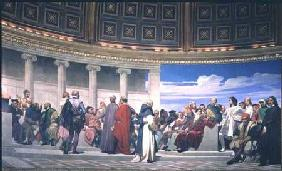 Hemicycle: Artists of All Ages, detail of the right hand side 1836-41