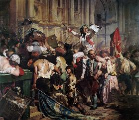 The Conquerors of the Bastille before the Hotel de Ville in 1789 1839