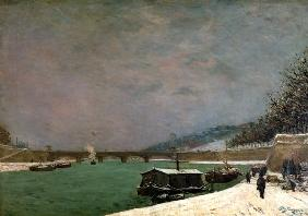 Paul Gauguin - Winter an der Seine in Paris mit Pont d'I�na