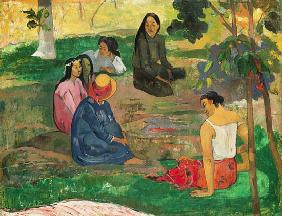 Paul Gauguin - Les Parau Parau (The Gossipers), or Conversation