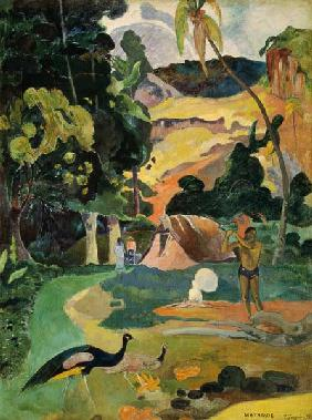 Paul Gauguin - Matamoe or, Landscape with Peacocks