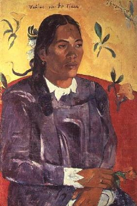 Vahine No Te Tiare (Woman with a Flower) 1891