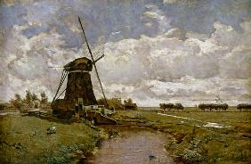 Windmill at Leidschendam 19. Jh