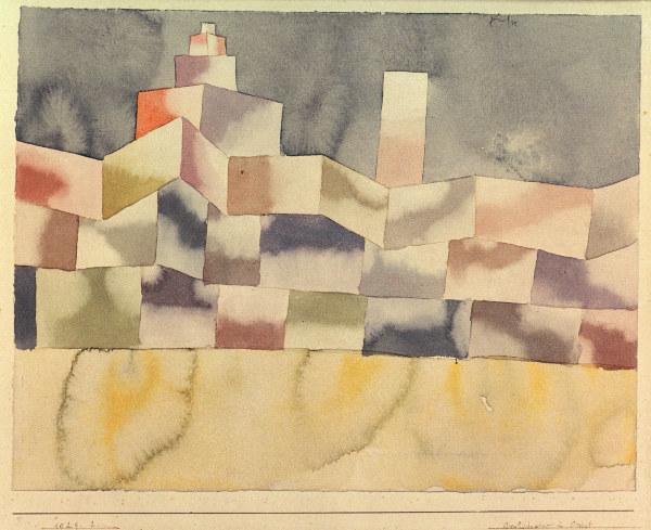 Architektur im orient 1929 2 paul klee als kunstdruck for Architektur 1929