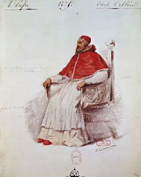 Costume design for the Pope Clement VII in 'Benvenuto Cellini' by Hector Berlioz (1803-69)
