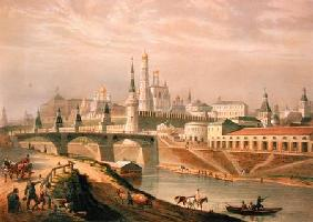 View of the Moscow Kremlin 1830