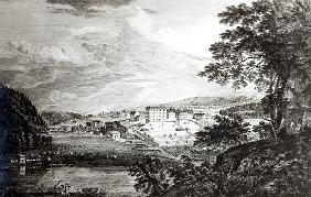 A View of Bethlem the Great Moravian Settlement in the province of Pennsylvania from ''Scenographia