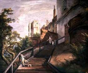 Part of the Hundred Steps and Winchester Tower, Windsor Castle