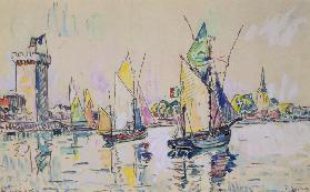 Sailing Boats at Les Sables-d'Olonne (w/c on paper)