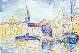 The Harbour at St. Tropez, c.1905 (w/c on paper) 15th
