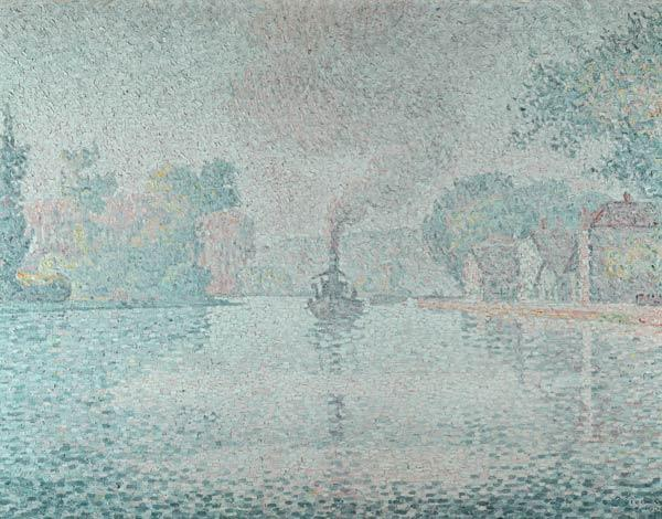 The Seine at Sannois, the tugboat \l''Hirondelle\\, 1901\""""