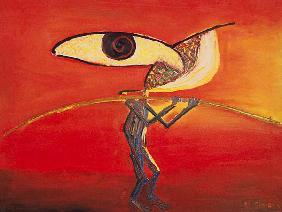 Kunstdruck von Paulo Simoes - Verkäufer der Illusion