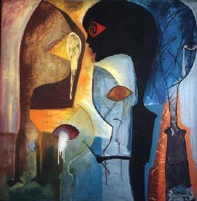 Kunstdruck von Paulo Simoes - Malen des Schmerzes